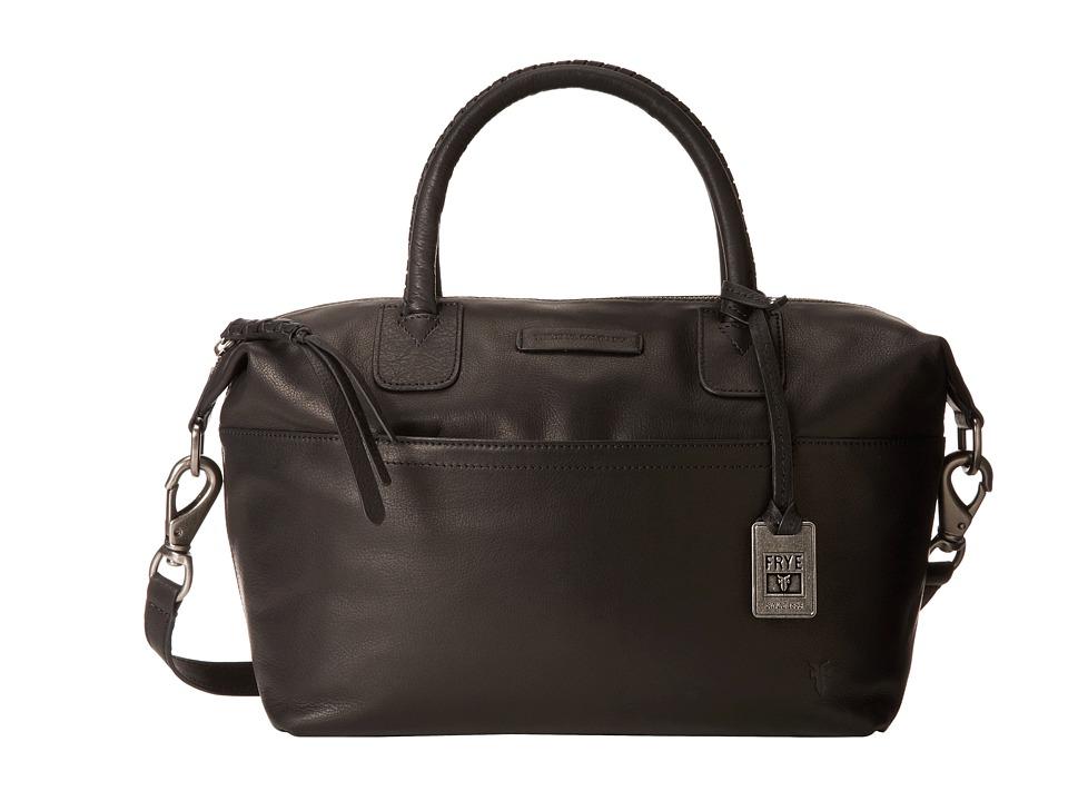 Frye - Jenny Satchel (Black Soft Vintage Leather) Satchel Handbags