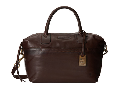 Frye - Jenny Satchel (Dark Brown Soft Vintage Leather) Satchel Handbags