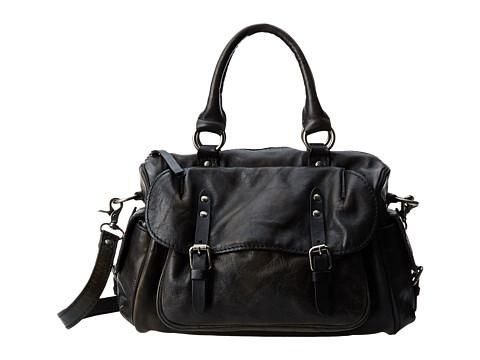 Frye - Veronica Satchel (Black Calf Shine Vintage) Satchel Handbags