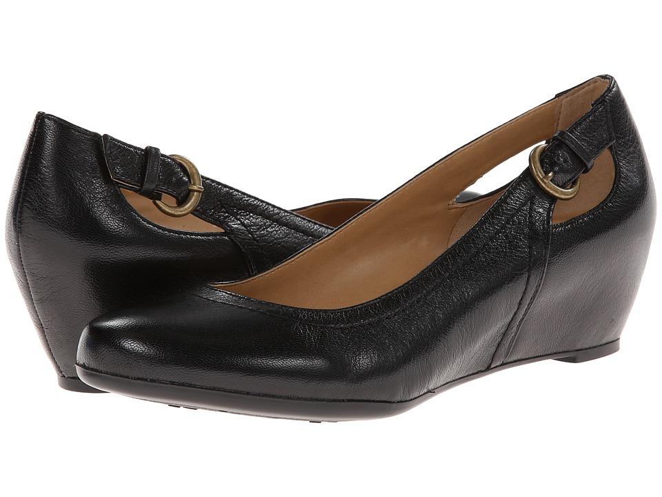 Naturalizer - Naja (Black Leather) Women's Slip on Shoes