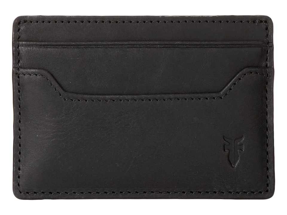 Frye - Logan Card (Black Antique) Credit card Wallet