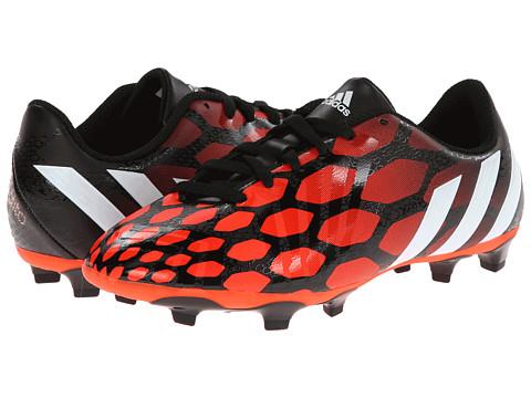 adidas Kids - Predito Instinct FG (Little Kid/Big Kid) (Black/Core White/Solar Red) Boys Shoes