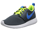 Nike Kids Roshe Run (Little Kid/Big Kid) (Dark Magnet Grey/Volt/White/Photo Blue)