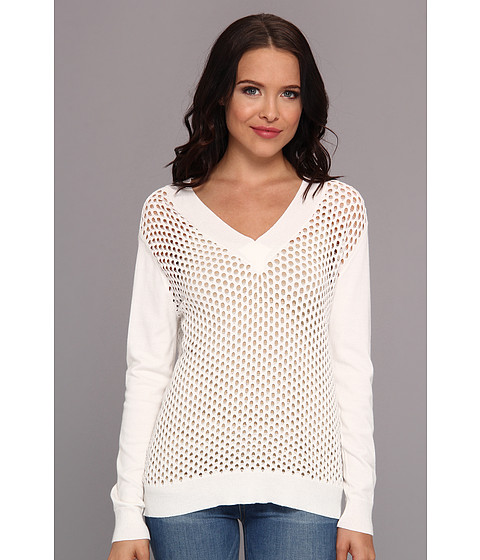 Townsen - Cruz V-Neck (White) Women's Sweatshirt