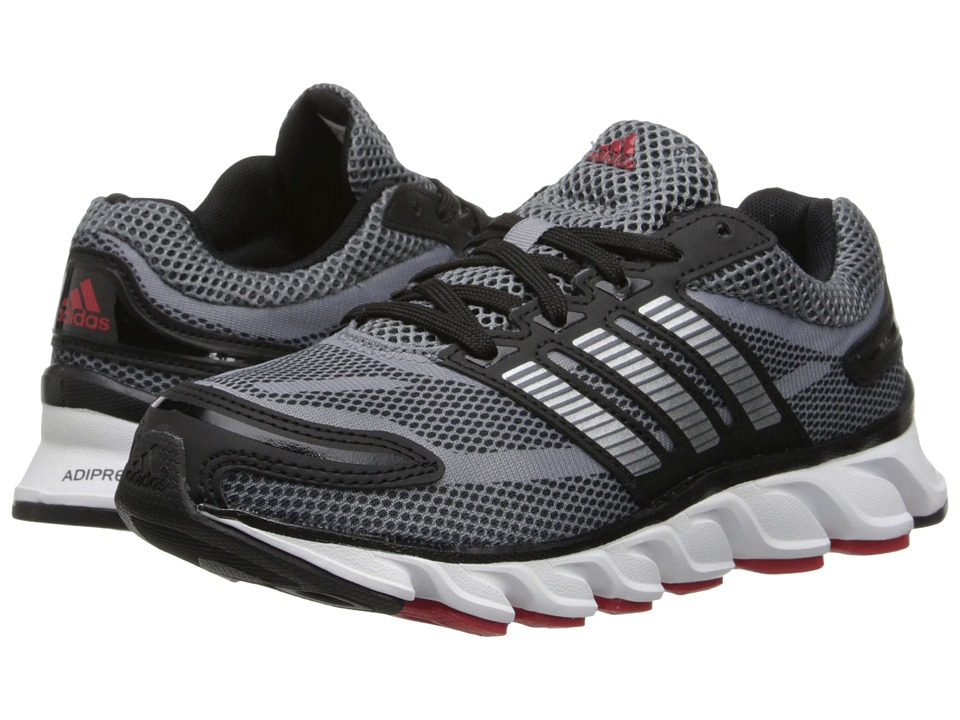 adidas Kids - Powerblaze (Little Kid/Big Kid) (Black/Silver Metallic/Solar Red) Boys Shoes