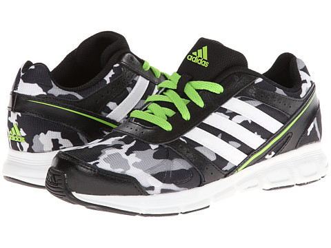 adidas Kids - Hyperfast (Little Kid/Big Kid) (Black/Core White/Semi Solar Green) Boys Shoes