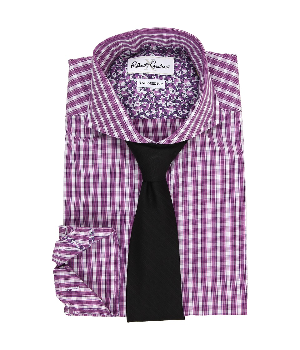 Robert Graham - X Tailored Fit Firenze Dress Shirt (Berry) Men's Long Sleeve Button Up