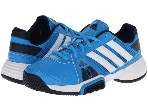 adidas Kids - Barricade Team 3 x (Little Kid/Big Kid) (Solar Blue/Core White/Collegiate Navy) Boys Shoes