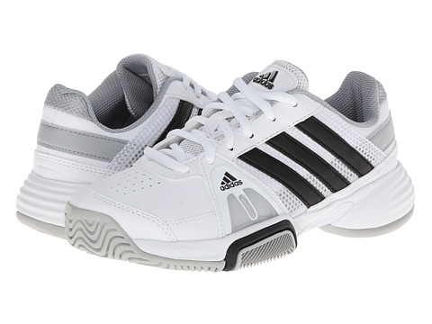 adidas Kids - Barricade Team 3 x (Little Kid/Big Kid) (Core White/Black/Clear Onix) Boys Shoes