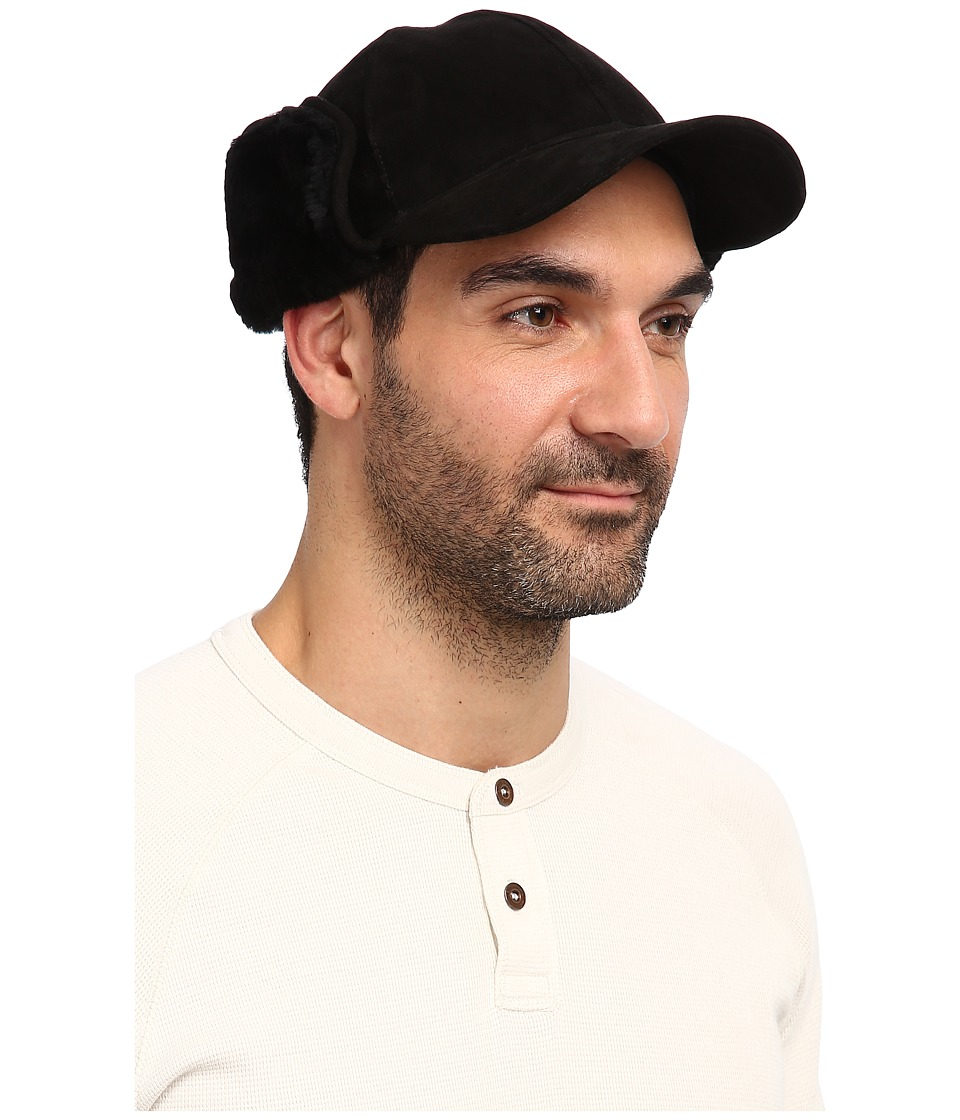 UGG - Lockwood Shearling Cap (Black) Traditional Hats
