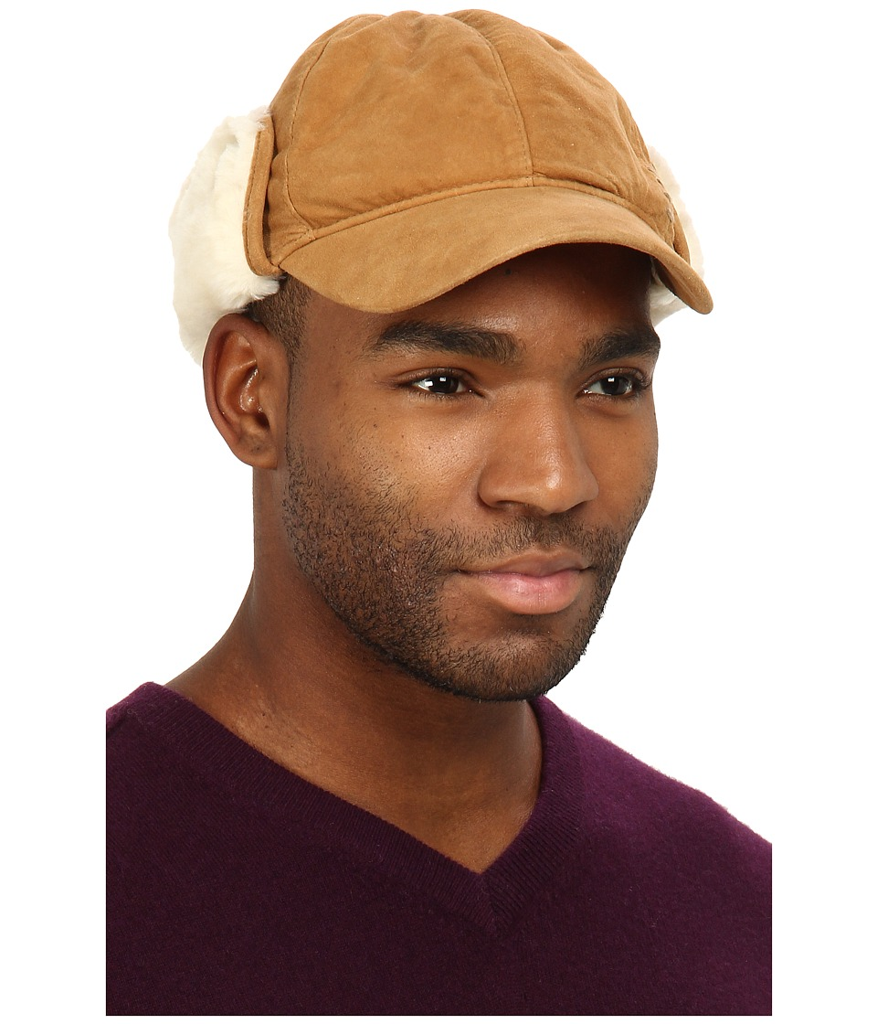 UGG - Lockwood Shearling Cap (Chestnut) Traditional Hats