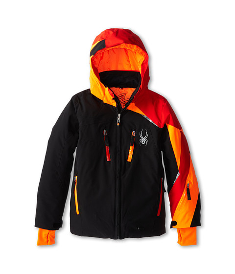 Spyder Kids - Avenger Jacket (Big Kids) (Black/Volcano/Bryte Orange) Boy's Jacket