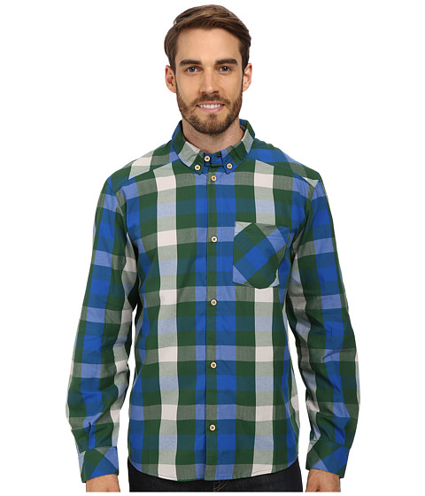 adidas Outdoor - EDO Check Long Sleeve Shirt (Amazon Green) Men's Long Sleeve Pullover