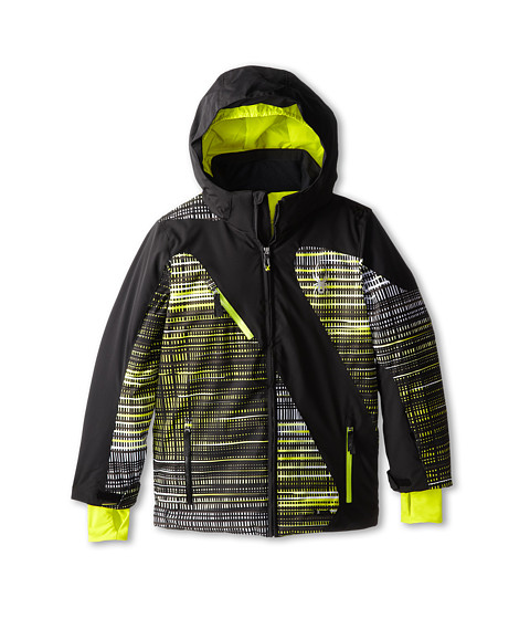 Spyder Kids - Enforcer Jacket (Big Kids) (Black/Acid Thatched/Acid) Boy