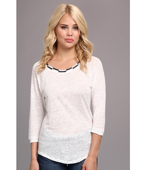 Townsen - Sheen Lights 3/4 Top (White) Women's Long Sleeve Pullover