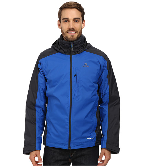 adidas Outdoor - Hiking 3 in 1 CPS Down Wandertag Jacket (Blue Beauty) Men's Coat