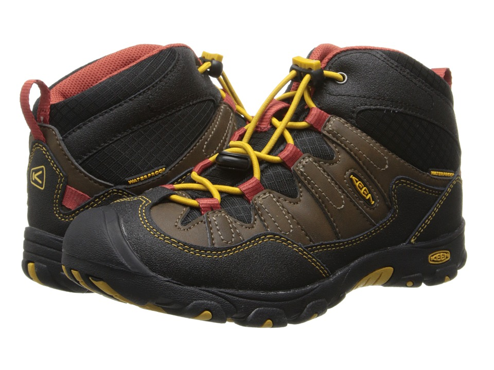 Keen Kids - Pagosa Mid WP (Little Kid/Big Kid) (Cascade Brown/Tawny Olive) Boys Shoes