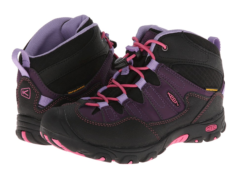 Keen Kids - Pagosa Mid WP (Little Kid/Big Kid) (Blackberry/Bougainvillea) Boys Shoes