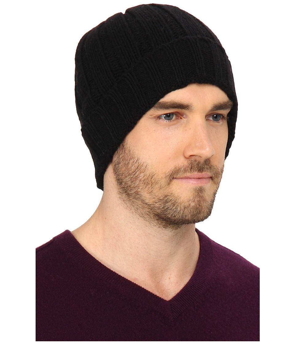 UGG - Calvert Cuff Hat (Black) Beanies