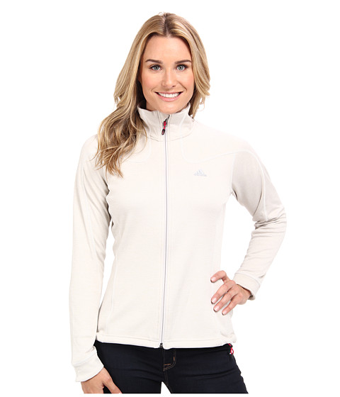 adidas Outdoor - Hiking Melange Fleece Jacket (Pearl Grey) Women's Coat