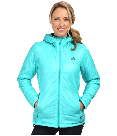 adidas Outdoor - Terrex Swift Primaloft Hoodie (Vivid Mint) Women's Sweatshirt