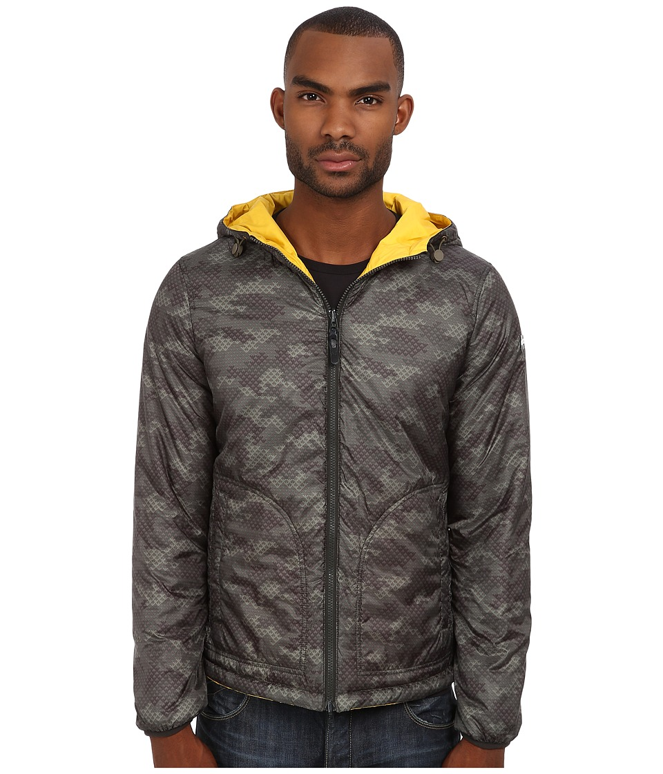 Armani Jeans - All Over Printed Polyester Reversible Jacket (Green Pattern) Men