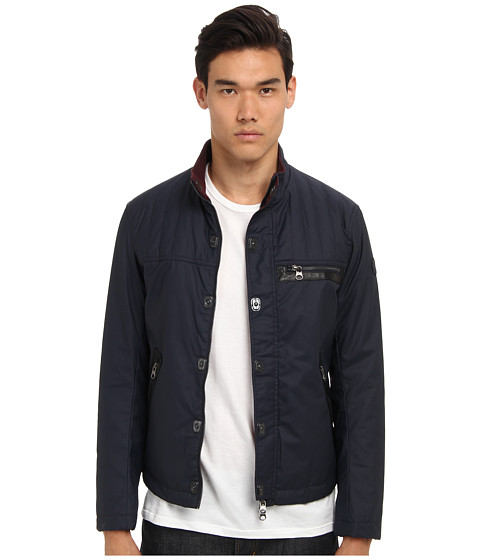 Armani Jeans - Coated Jacket (Blue) Men's Jacket