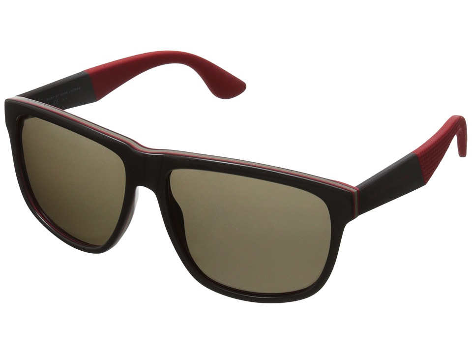 Marc by Marc Jacobs - MMJ 417/S (Brown Red Layer/Brown) Fashion Sunglasses