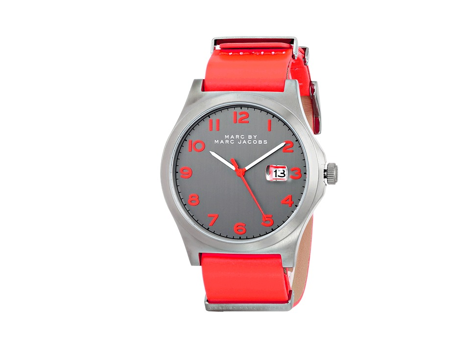 Marc by Marc Jacobs - MBM5060 - Jimmy Strap (Gunmetal/Infra Red Strap) Watches