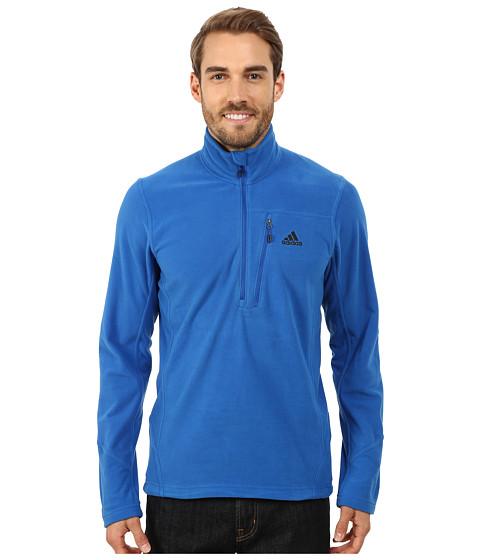 adidas Outdoor - Hiking Reachout Pull Over Fleece (Blue Beauty) Men