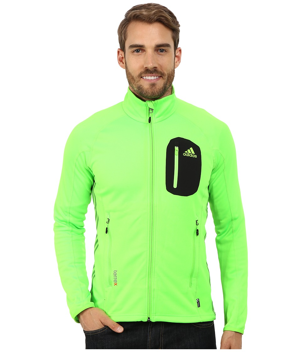 adidas Outdoor - Terrex Cocona Fleece Jacket (Neon Green) Men