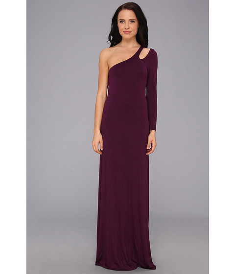 Gabriella Rocha - Alyssa One Shoulder Maxi (Eggplant) Women's Dress