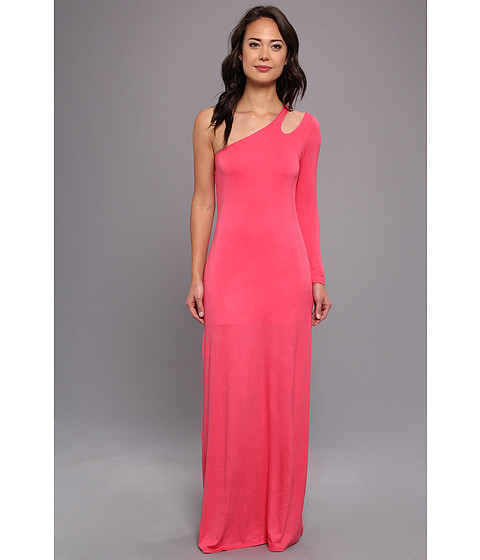 Gabriella Rocha - Alyssa One Shoulder Maxi (Coral) Women's Dress