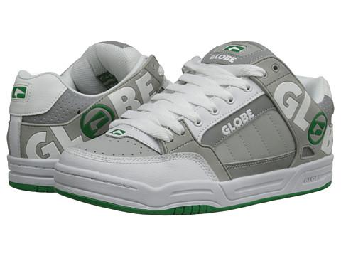 Globe – Tilt (White/Grey/Green TPR) Men's Skate Shoes
