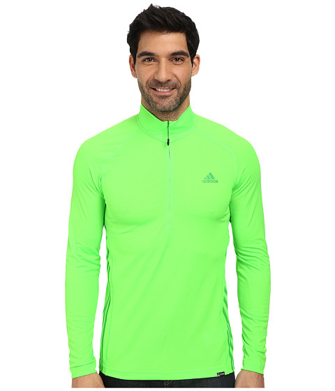 adidas Outdoor - Terrex Swift Long Sleeve 1/2 Zip Tee (Neon Green) Men
