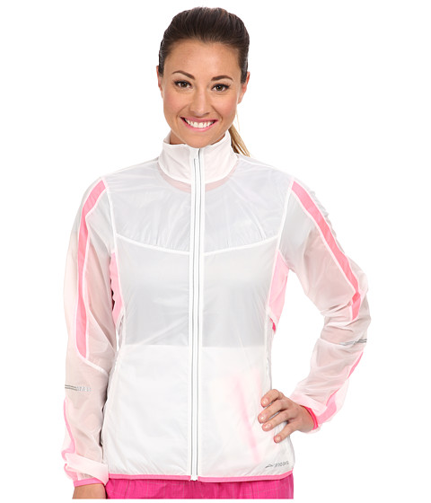 Brooks - LSD Lite Jacket IV (White/Brite Pink) Women's Jacket