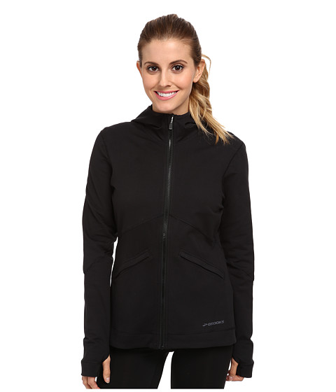 Brooks - Utopia Thermal Hoodie III (Black) Women's Long Sleeve Pullover