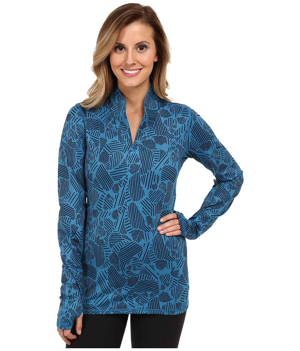 Brooks - Utopia Thermal L/S (Aurora Woodblock) Women's Long Sleeve Pullover