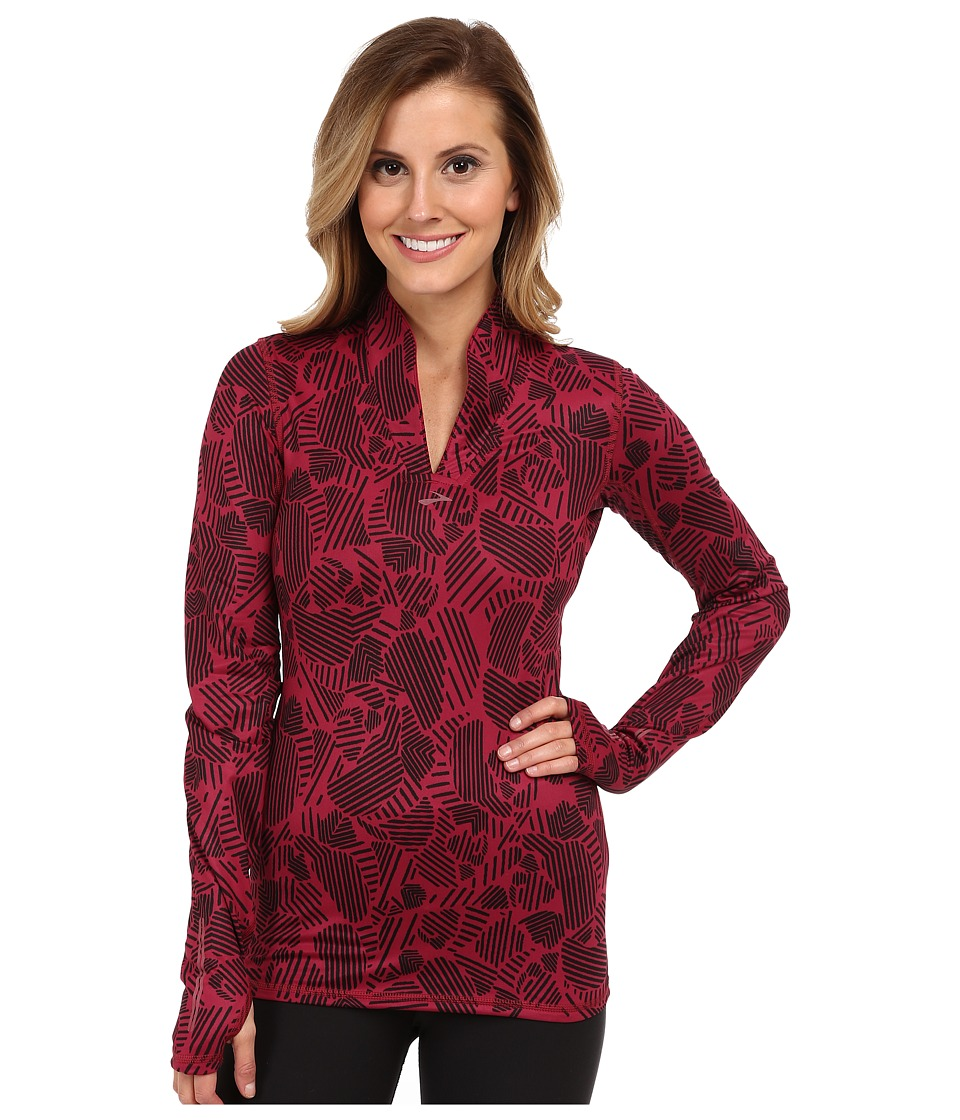 Brooks - Utopia Thermal L/S (Jam Woodblock) Women's Long Sleeve Pullover