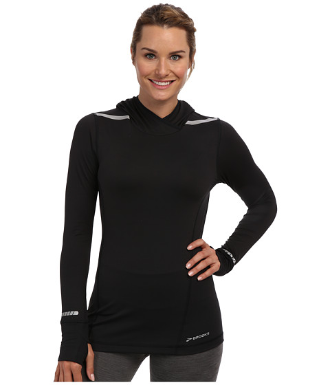 Brooks - Nightlife L/S Top (Black) Women's Long Sleeve Pullover