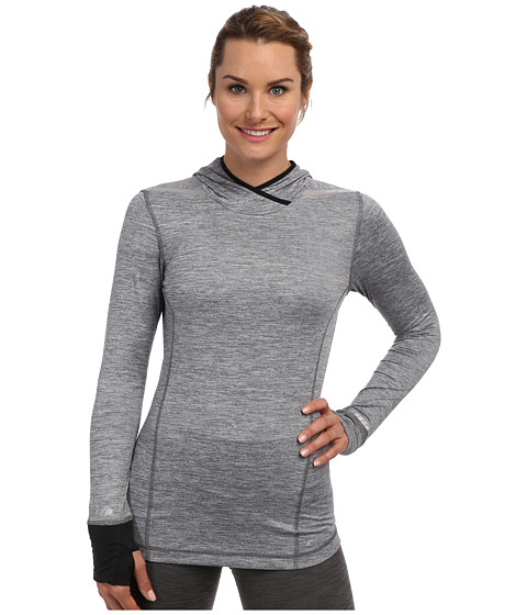 Brooks - Nightlife L/S Top (Heather Mako/black) Women