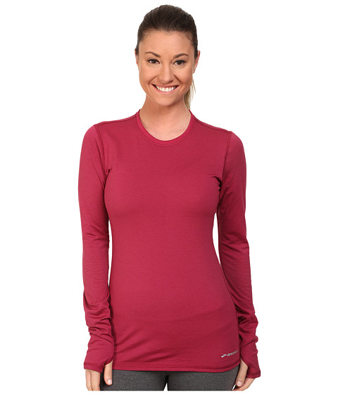 Brooks - Heater Hog Long Sleeve Shirt (Jam) Women's Long Sleeve Pullover