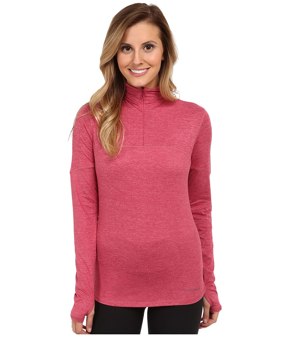 Brooks - Essential L/S Half Zip III (Heather Jam) Women's Workout