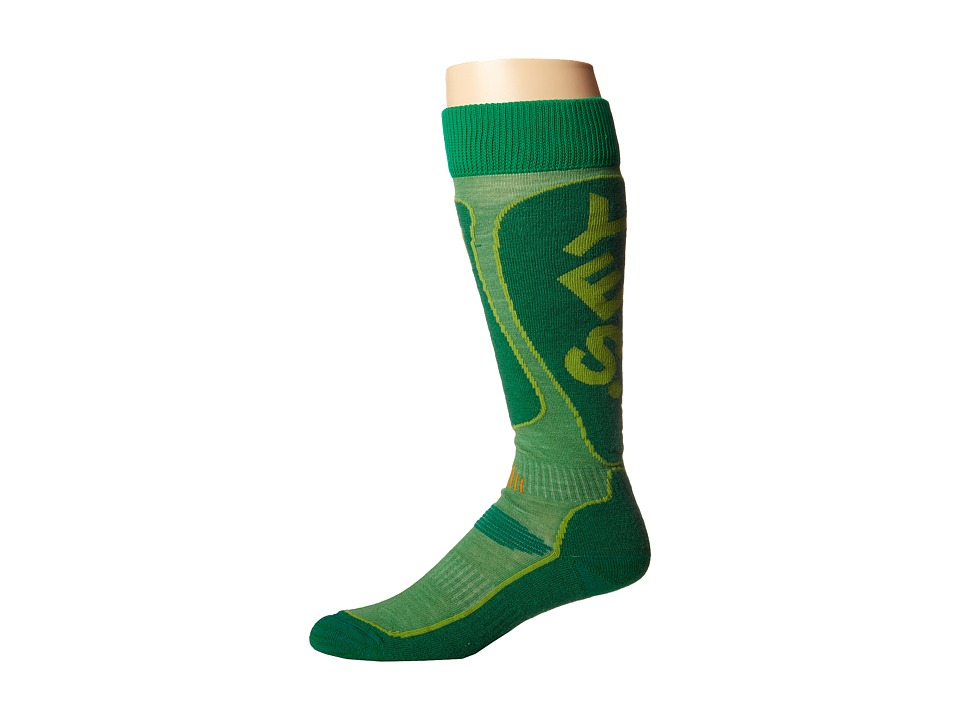 Globe - Yes x Globe Park Rat Snow Sock (Lime) Crew Cut Socks Shoes