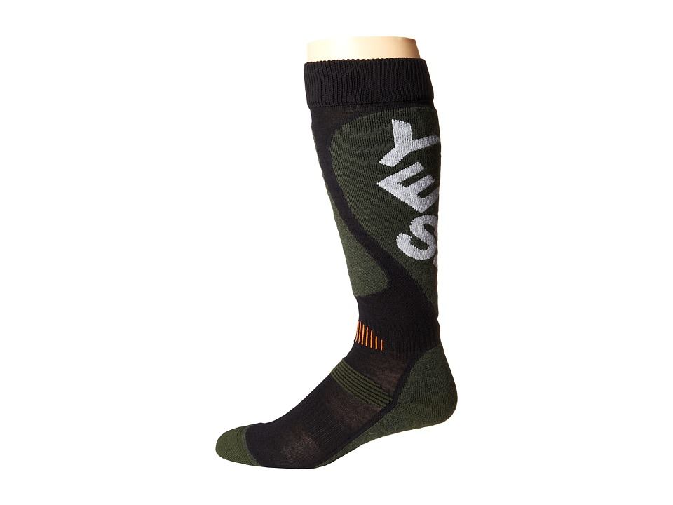 Globe - Cortina Snow Sock (Army) Crew Cut Socks Shoes