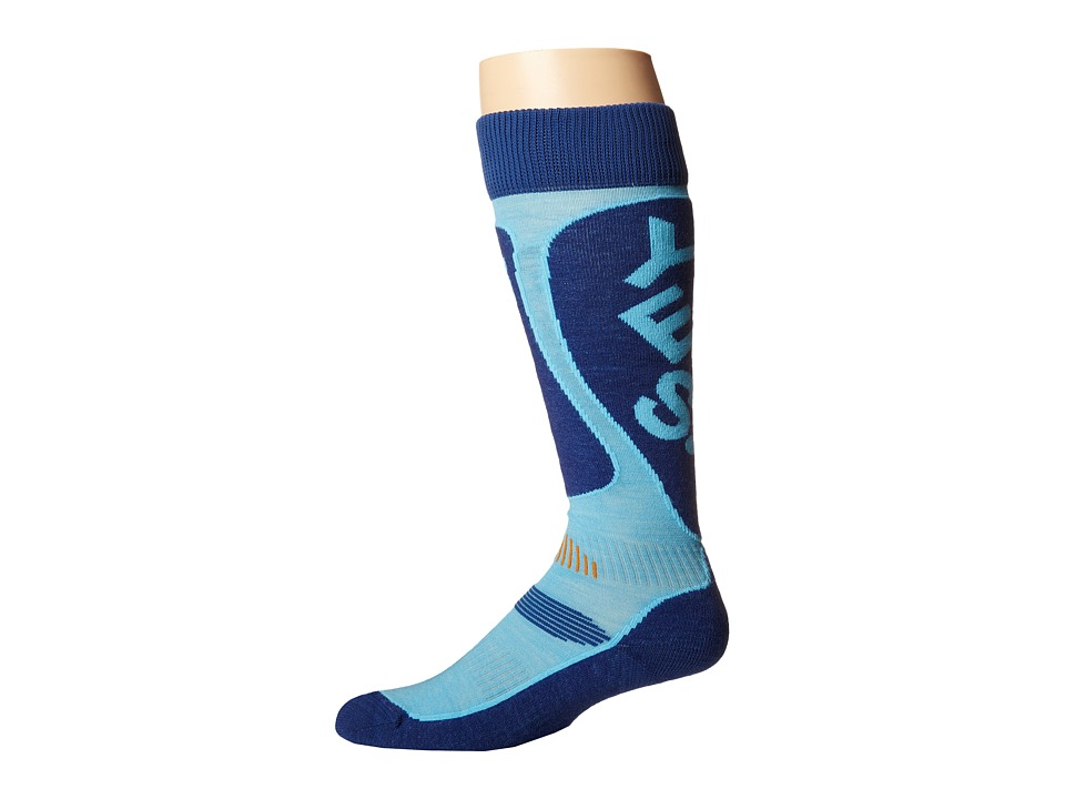 Globe - Yes x Globe Park Rat Snow Sock (Blue) Crew Cut Socks Shoes