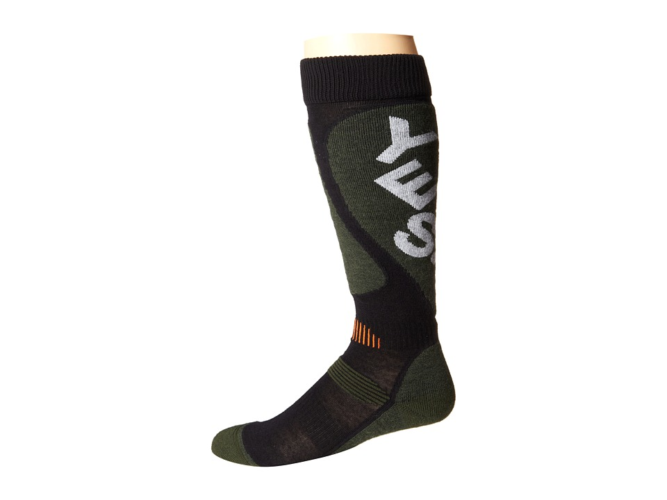 Globe - Cortina Snow Sock (Charcoal) Crew Cut Socks Shoes