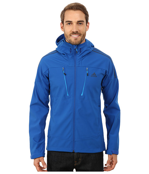 adidas Outdoor - TS Soft Shell Hoodie (Blue Beauty) Men's Clothing
