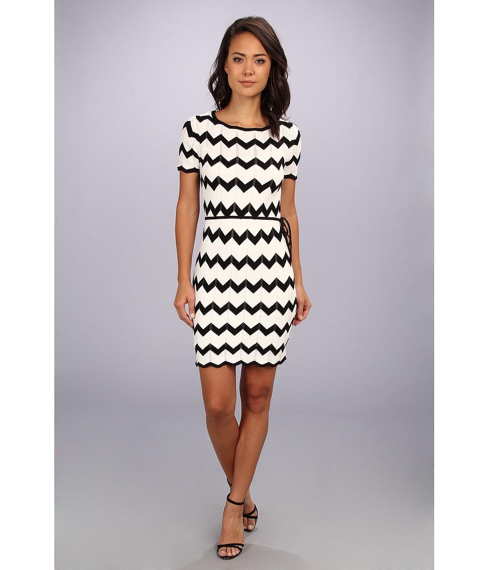 Trina Turk - Carlotta Sweater Dress (White/Black) Women's Dress