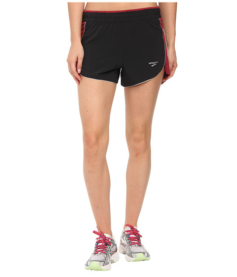 Brooks - Epiphany 3.5 Stretch Short III (Black/Jam) Women's Shorts